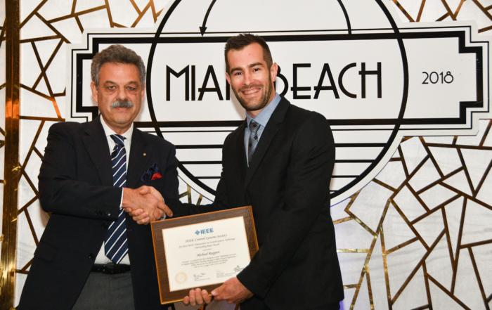 Dr Michael Ruppert receives IEEE Best Paper Award