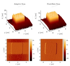 Scan Rate Adaptation for AFM Imaging Based on Performance Metric Optimisation